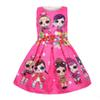 Baby Dresses 3-9Y Summer Cute Elegant Dress Kids Party Christmas Costumes Children Clothes Princess Lol Girls Dress