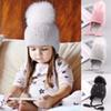 Baby Winter Hat Fur Pompom Caps bonnet enfant Toddler Boys Girls Knitted Cap Cotton Protect The Ears Hats Warm Children Beanie