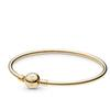 2019 New Arrival Top Quality Pandora Bangles Womens pulsera de Bracelets Gold Signature Clasp Silver Bangle Charm Bracelet Cheap Summer Gift