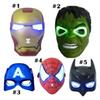 Christmas LED Glowing superhero mask for kid & adult Avengers Marvel spiderman ironman captain america hulk party mask Cosplay Mask