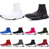 2019 designer socks men women sneakers fashion shoes black white red glitter green pink Flat mens Trainers Speed Runner outdoor boots 36-45