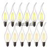 LED Lamp E14 2W 4W 6W Dimmable Flame Light Bulb Warm White 220V Edison retro glass bulb for chandelier