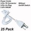 3Pin 3Ft Power Cords Without Switch
