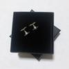 1.8X1.2CM Fashion C letter alloy silver needle earring with gift box,for ladies collection luxury design earrings Jewelry party gift