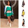 Off Shoulder Sunscreen Dresses Suit Two Piece Set Bodycon Shirt Miniskirt Tracksuit Fashion Womens Home Clothing