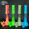 Silicone Bongs Percolators Perc Removable 14 inch Straight Water Pipes Smoking Bong With Glass Bowl Mini Bubblers free grinder