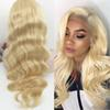 Brazilian Hair Straight Body Wave Full Lace Wig 613 Blonde for Black Woman with Baby Hair Honey Blonde Human Hair Lace Front Wigs