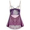 95a4a25525 2019 Plus Size Lingerie Hot Women Sexy Lingerie Appliques Purple ...