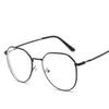 Inventive Mongoten Unisex Fashion Retro Full Rim Stainless Steel Optical Eyeglasses Black Silver Clear Lens Myopia Goggle Eyeglasses Frame Apparel Accessories