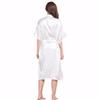 5ad4e065a6 2019 Wholesale White Female Faux Silk Robe Bathrobe Women Sleepwear ...