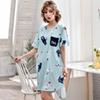 2019 XISHA Stitching Loose Long T Shirt Sweet Girl Nightdress ... bfe3e2e7e