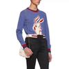 New Luxury Rabbit Cartoon Wool Sweater Tops Fashion Pullover Long ... 1cacaaad3d44