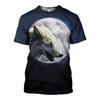 Compre 3d Camiseta Wolf King Camisetas Moda Tee Hombres Mujeres ... 620fa849da5
