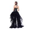 077d1424d993 Sexy Corset Bustier Gothic con vestido de 2 piezas Sets Mujeres Steampunk  Gothic Corselet Halter Lace Ruffles Vestido de fiesta floral Maxi vestido  de ...
