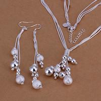 Высокий класс 925 стерлингового серебра из трех частей жгутов шарик ювелирных изделий набор бренд DFMSS121 новый завод прямой 925 ожерелье серьги серебро
