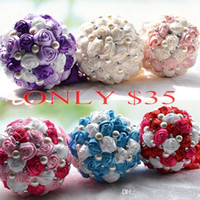 ONLY $35 Top Bridal Wedding Bouquet 2015 High Quality Purple...
