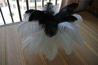 Atacado 100 pcs 12-14 polegada de penas de avestruz branco e preto para peça central do casamento decoração de Casamento peça central do casamento decoração do partido decoração