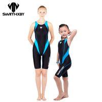 Atacado- HXBY Corrida Swimwear Mulheres One Piece Swimsuit por meninas Suit natação competitiva para Suits Mulheres de banho para senhora Trajes de banho crianças