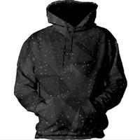 Wholesale- Mode Sweatshirts 3d Schwarz drucken mit Hut Unisex Sweatshirts Frauen Männer Harajuku beiläufige Hoodies Größe S-5XL Drop S-5XL