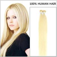 """ELIBESS 16 """"-24"""" # 60 I tip Hair Extensions 1g / s 100s / pack شعرة الإنسان البلاتين خالية من التشابك قبل الشعر المستعبدين بالكيراتين"""