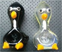 2015 أحدث أنابيب زجاج البطريق للتدخين مع الحيوان بطة شكل ملون تصميم فريد من نوعه منحني أنابيب المياه بالجملة السعر شحن مجاني