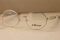 Unisex 7550178 White Diamond em aço inoxidável óculos Homens favorito óculos óculos olho quadros para homens C Decoração Tamanho: 55-22-140mm