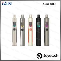 Joyetech eGo AIO Kiti 100% Orijinal 1500mAh Pil Ile 2 mL Anti-kaçak İlk Çocuklara Dayanıklı Tankı Kilit Sistemi All-in-one Stil Vaping Cihazı