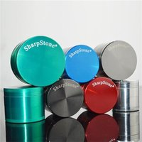 Sharp Stone Metal Grinder 40mm 50mm 55mm 63mm Tabacco Herb Grinder Sharpstone 4 Parti CNC Grinders in lega di zinco Sei colori Grinders Tabacco