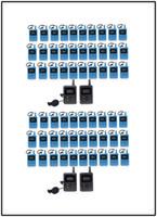 Guide audio pour récepteur sans fil portable pour système de guide touristique Traduction simultanée Eglise de réunion (4 émetteurs + 60 récepteurs)