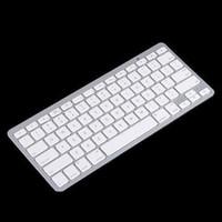 2015 Beyaz Ince Kablosuz Bluetooth Klavye iPad iPhone Için iPod Touch PS3 Klavye Android / Telefon / PC / Tablet PC için ücretsiz kargo