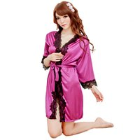 20151205 3Pcs Sexy Lingerie hot blue robe dress+ g string set...