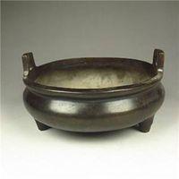 Quemador de incienso de bronce chino de colección w Dinastía Ming XuanDe Mark