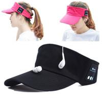 Sem Fio Bluetooth Headphone Chapéus Vazio Top 2 in1 Headset Sun Caps Unisex Etooth Esportes Ao Ar Livre Tampa Da Música Para O Telefone Inteligente