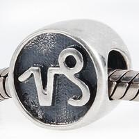 12 Constelaciones Beads sueltas de plata 100% 925 Capricornio Bead Fits European Pandora Charms Pulsera China DIY Beyry Beading