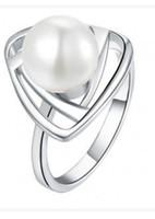 3 шт. Жемчужное золото * серебряное женское кольцо всех размеров (88)
