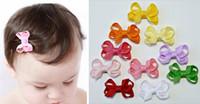 """10pcs 2"""" Wellen-Punkt-Punkt-Haar-Baby-Mini Hairbows Ripsband Boutique Bowknot mit Krokodilklemme Kopfbedeckung Zubehör HD3346"""