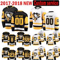 Pittsburgh Penguins Custom 2017-2018 hombres Jake Guentzel 23 Scott Wilson Jersey 81 Phil Kessel 72 Patric Hornqvist 8 Brian Dumoulin JERSEYS