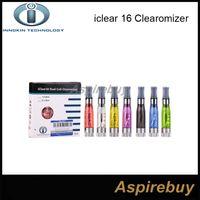 Оригинальный Innokin iClear 16 Clearomizer с двойной катушкой электронная сигарета ecig круглый рот атомайзер (1.6 мл) 2.1 ohm перестраиваемая двойная катушка