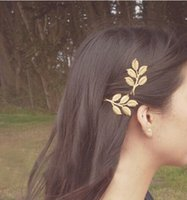 12pcs all'ingrosso metallo placcato oro foglia foglie hairclips capelli pin charms accessori per capelli accessori da sposa