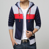 New Sping Fashion Men' s Fleece Hoodies Men Jacket Track...