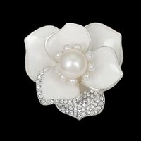 Femmes Fleur Strass Perle Broche Corsage De Mariée Rose Bouquet Revers Pin De Mariage Accessoires Bijoux Cadeau Pour L'amour