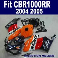 Spritzgussverkleidung für HONDA CBR1000RR 2004 2005 CBR 1000 RR 04 05 orange schwarz REPSOL hochwertiges Verkleidungskit KA26