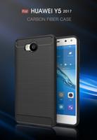 Carbon Fiber Case Pour Huawei Y5 2017 Lite Honor 8 P8 Lite P9 GR3 Profitez 7 plus Y7 6S 6C P10 plus brossé silicone souple en caoutchouc couverture arrière