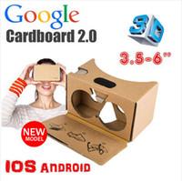 Google Cardboard 2.0 V2 3D نظارات VR فالنسيا جودة ماكس صالح 6 بوصة للهواتف الذكية ios الروبوت iPhone 6 6S زائد 5S S6 حافة