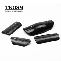 TKOSM Motorcycle Exhaust Muffler Cover Carbon Fiber Color Pr...