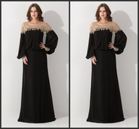 2020 Nouvelle vente chaude Noir Loose Scoop Col Dubaï Kaftan Robes de soirée à manches longues à manches longues Souche de mousseline de mousseline de soie Vestine de Festa 144