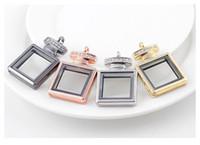 5 Teile / los Neue Strass Magnetschlüssel Schwimm Medaillon Living Glasspeicher Medaillon Halskette Anhänger Medaillons Für Frauen Parfümflasche