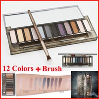 In stock 12 Color Eyeshadow NUDE Smoky Palette with brush Ey...