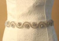 أسعار الجملة العروس فستان الزفاف أحزمة أحجار الراين الطويلة الشريط الزنانير الزفاف 10 ألوان النظام المختلط حزام جودة عالية