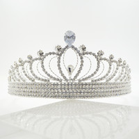 Recommand Zircon Crystal Rhinestone Crowns Tiaras Bridal Wed...